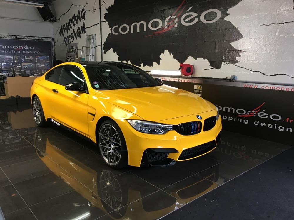 BMW M4 Jaune