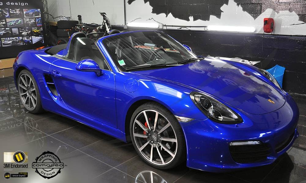 Porsche Boxter Bleue